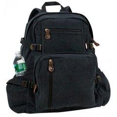 Rothco Jumbo Vintage Canvas Backpack (Black)