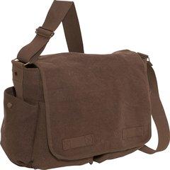 Rothco Vintage Unwashed Canvas Messenger Bag (Brown)