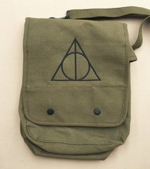 Deathly Hallows Harry Potter Embroidered Tablet Bag