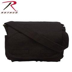 Rothco Vintage Unwashed Canvas Messenger Bag (Black)