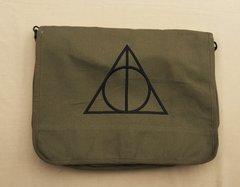 Harry Potter Deathly Hallows Embroidered Messenger Bag