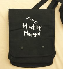Mischief Managed Harry Potter Embroidered Tablet Bag