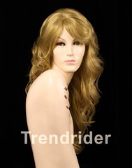 Red Mix Curly Side Part Long Wig