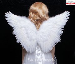 Angel of Fantasy, Medium2, White feather wings w/halo