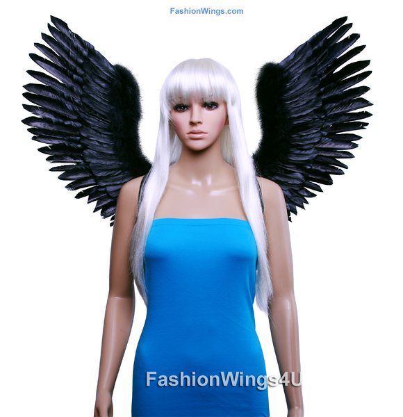 Angel of Victory, Large, Black feather wings