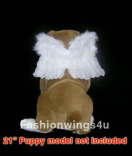 Angel of Protection, White feather wings for Pets