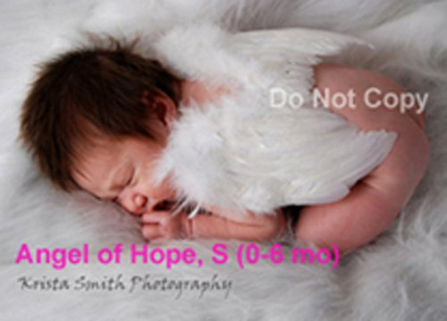 Angel of Hope, Small, White feather wings w/halo