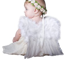Angel of Protection, Medium, White feather wings