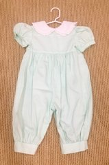 18mth Sydnery Romper mint pique