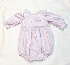 12mth Long Sleeve Daisy Bubble pink herringbone