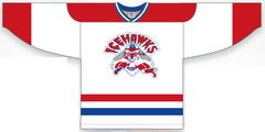 White Ice Hawks Game Jersey