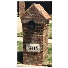 "Personalized Address Plaque. 9""tall X 15""wide X 3""thick. Chiseled Style. Engraved Cast Stone. Painted and Sealed House Numbers"