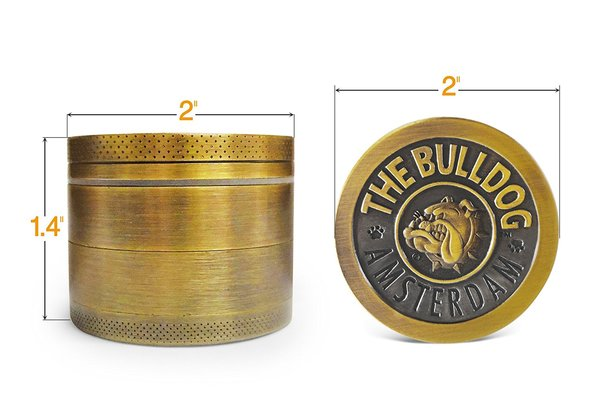 Image result for Amsterdam The Bulldog Zinc Alloy 2 inches 4 layers Spice/herb Grinder