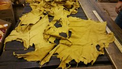 DEER HIDE SMALL HIDES AND PEACES GOLDEN COLOR