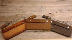 Extra Large Genuine Leather Motorcycle Trucker Biker Chain Wallet/ Inside Zipper-H20/22