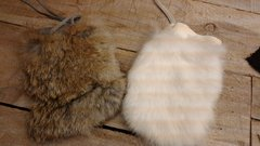Genuine Rabbit Skin bag/Fur pouch / Crafts, Leathercraft-H7/8