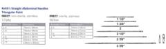 straight Sharps Needles (6 sizes) 12/pks
