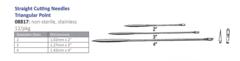 straight Sharps Needles (3 sizes) 12/pks