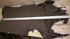 deer hide top grain / buckskin hide / dark brown color / pic 7