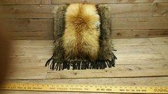 red fox & raccoon fur pillow V1-1