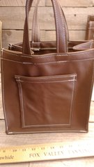 Brown Shopping Bag (hand made) Genuine Leather Hand made in our shop-I-14