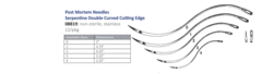 DOUBLE CURVED Needles (5 sizes) 12/pks