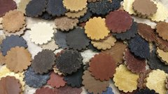 Leather Rosettes/concho's/ 5oz or 1/8 thick./ Natural Color / 50 pcs