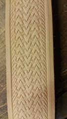 "Embossed Cowhide Purse Strap / Belt Blank 1-1/2""WIDE (basket weave)"