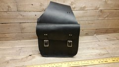 American made SADDLEBAG handmade genuine black leather-I-6