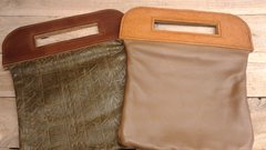 Beautiful Leather tablet Bag w/ Clutch Handle-I-18,19