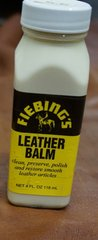 Fiebing's Leather Balm Neutral Cleaner Softener Preserver - 4 oz or quart size