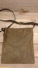 American made Leather Handmade Bag , Large Messenger Bag-H-4