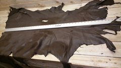 deer hide top grain / buckskin hide / dark brown color / pic 6