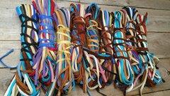 "Deerskin Lace Multicolor bundle 1/4"" X 3', 25 pieces F1-11"