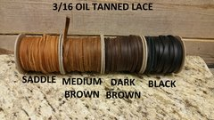 3/16 oil tanned cow hide lace (old west pull up leather) G-4