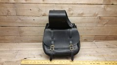 American handmade black leather, motorcycle saddle bag-I-1