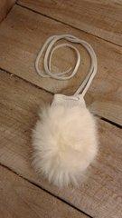 Sm Genuine Sm Rabbit Skin bag/Fur pouch / Crafts, Leathercraft,slight damage fur-H-7