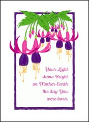 Fuchsia Birthday Wishes