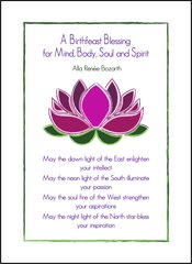 A Birthfeast Blessing for Mind, Body, Soul and Spirit - Soul Card