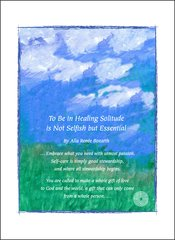 To Be in Healing Solitude is Not Selfish but Essential - Soul Card