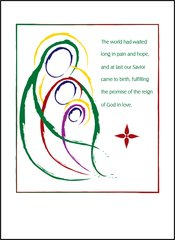Mary and Jesus in God's Embrace Soul Card