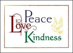 Peace Love Kindness Soul Card