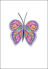 Butterfly With Two Wings Note Card
