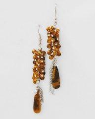 Tiger Eye Semi-precious Stone Earrings