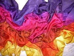 Three Yard Rainbow Sunset Silk Belly Dance Veil