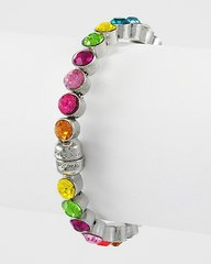 Small Multi Colored Rhinestone Magnetic Bracelet