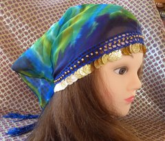 Head Scarf with Coins and Tassels or Mini Hip Scarf for Toddlers
