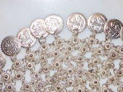 Silver Egyptian Coin Head Piece