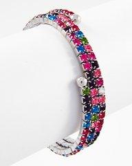 Spiral Multi Colored Rhinestone Bracelet