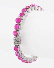 Small Pink Rhinestone Magnetic Bracelet